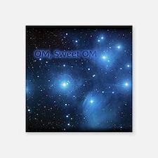"""Sweet OM Pleiades twin duve Square Sticker 3"""" x 3"""""""