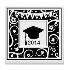 Class of 2014 graduation Tile Coaster