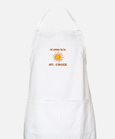 I'd Rather Be In St. Croix, U BBQ Apron