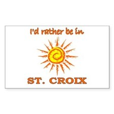 I'd Rather Be In St. Croix, U Sticker (Rectangular