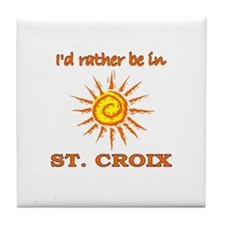 I'd Rather Be In St. Croix, U Tile Coaster