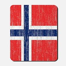Vintage Norway Flag Mousepad