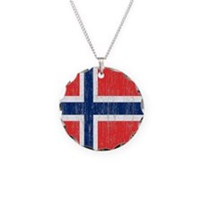 Vintage Norway Flag Necklace