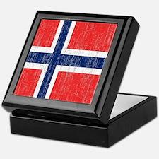 Vintage Norway Flag Keepsake Box