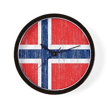 Vintage Norway Flag Wall Clock