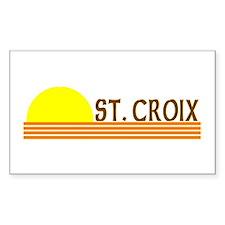 St. Croix, USVI Rectangle Decal