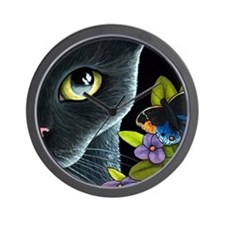 Cat 557 Wall Clock
