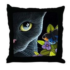 Cat 557 Throw Pillow