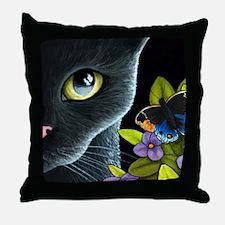 Cat 557 Throw Pillow