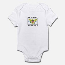 St. Croix, USVI Flag Infant Bodysuit