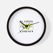 St. Croix, USVI Flag Wall Clock