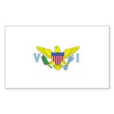 St. Croix, USVI Flag Rectangle Decal