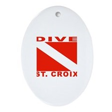 Dive St. Croix, USVI Oval Ornament