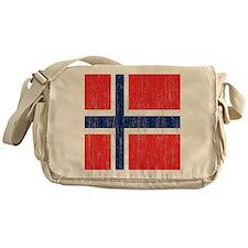 Vintage Norway Flag Shower Curtain Messenger Bag