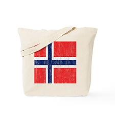 Vintage Norway Flag Shower Curtain Tote Bag