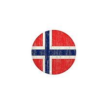 Vintage Norway Flag Shower Curtain Mini Button
