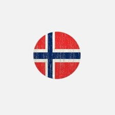 Vintage Norway Flag Shower Curtain Mini Button