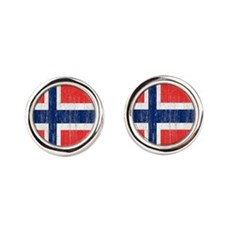 Vintage Norway FlagThrow Blanket Cufflinks