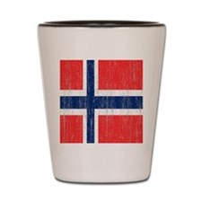 Vintage Norway FlagThrow Blanket Shot Glass