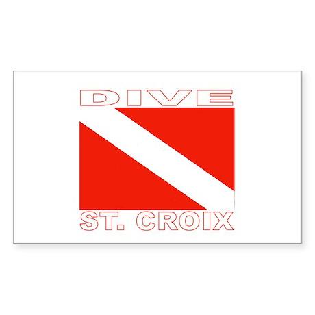 Dive St. Croix, USVI Rectangle Sticker