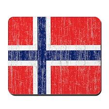 Vintage Norway Flag King Duvet Mousepad