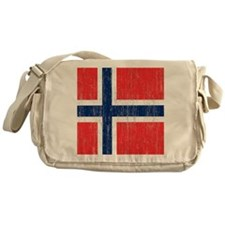 Vintage Norway Flag King Duvet Messenger Bag