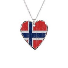Vintage Norway Flag Twin Duve Necklace