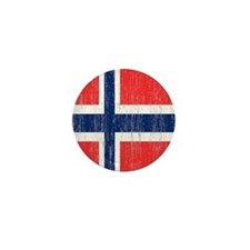 Vintage Norway Flag Twin Duvet Mini Button