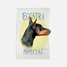 Eggstra Special Doberman Rectangle Magnet