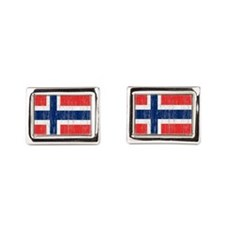 Vintage Norway Flag Queen Duvet Cufflinks