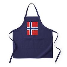 Vintage Norway Flag Queen Duvet Apron (dark)