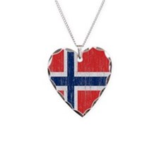 Vintage Norway Flag Queen Duv Necklace