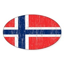 Vintage Norway Flag 5 feet by 7 fee Decal