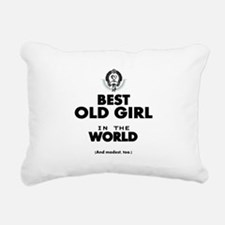 The Best in the World Old Girl Rectangular Canvas