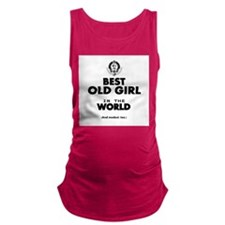 The Best in the World Old Girl Maternity Tank Top