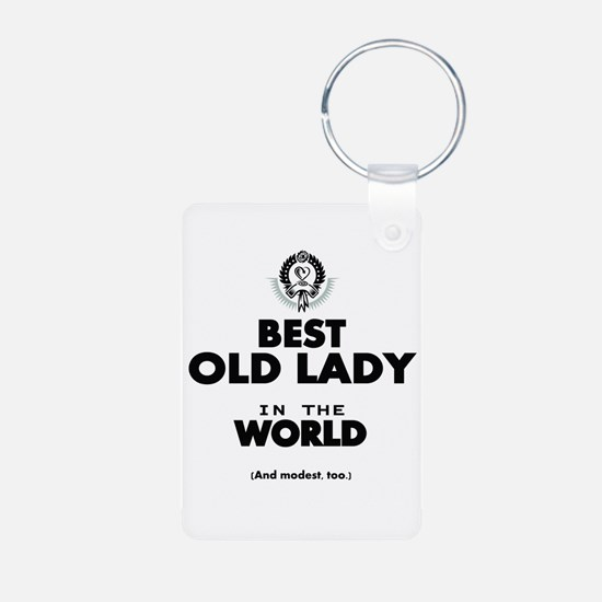 The Best in the World Old Lady Keychains