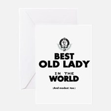 The Best in the World Old Lady Greeting Cards