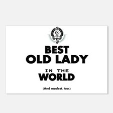 The Best in the World Old Lady Postcards (Package