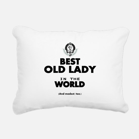 The Best in the World Old Lady Rectangular Canvas