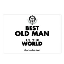 The Best in the World Old Man Postcards (Package o