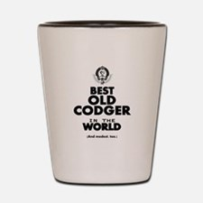 The Best in the World Old Codger Shot Glass