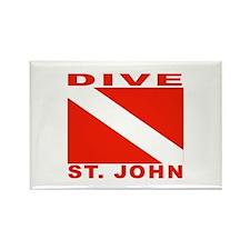 Dive St. John, USVI Rectangle Magnet