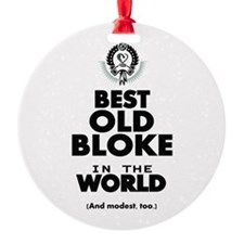 The Best in the World Old Bloke Ornament