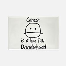 Cancer is a Big Fat Doodiehead Rectangle Magnet (1