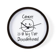 Cancer is a Big Fat Doodiehead Wall Clock