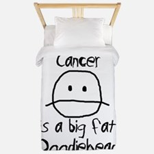 Cancer is a Big Fat Doodiehead Twin Duvet