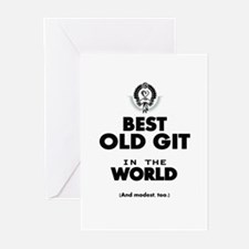 The Best in the World Old Git Greeting Cards