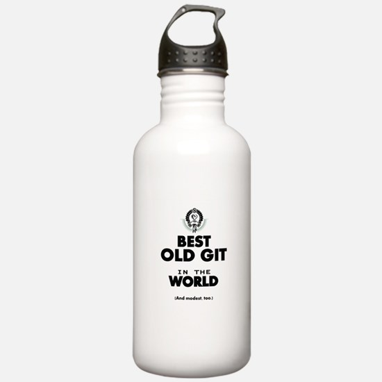 The Best in the World Old Git Water Bottle