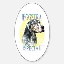 Eggstra Special English Setter Oval Decal