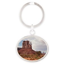 Monument Valley, Utah, USA 2 Oval Keychain
